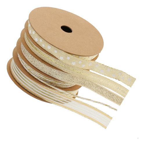 5 rollos alambre cinta con cordón diy artesanía de costura