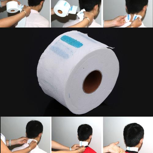 5 rollos papel protector cuello peluqueria tintura barberia