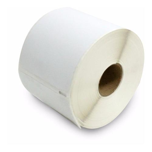 5 rolos etiquetas adesiva couchê impressora térmica / zebra