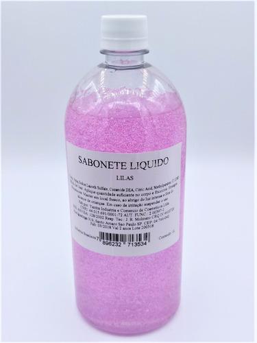 5 sabonete liquido com gliter 1 litro várias cores