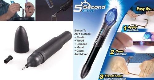 5 second fix caneta cola uv p/ reparos instantâneos legítimo