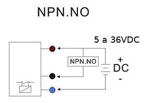 5 sensor indutivo proximidade npn na (5-36v)  lj12a3-4z/bx