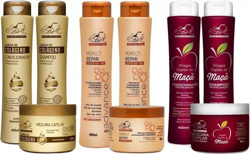 5 shamp 5 cond 5 mascara lançamento bel kit revenda