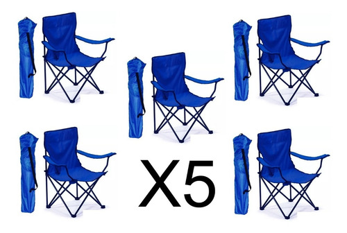 5 sillas plegables de playa  alberca camping outdoors