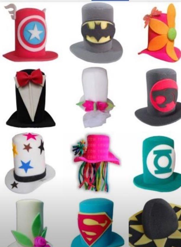 5 Sombreros De Hule Espuma - $ 150.00 en Mercado Libre