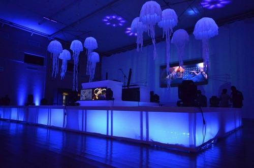 5 sputnik agua viva  2.00mt,dj,formatura,decoração,carnaval