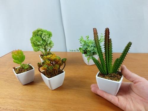 5 suculentas artificiais vasinhos mini vasos arranjos kit