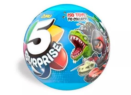 5 surprise pelota con 5 juguetes sorpresas para nenes