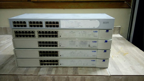 5 switch 3com no estado, roteador, lan house.