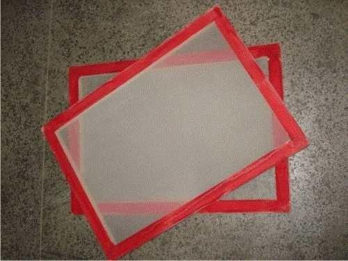 5 telas 40x50 esticada 60 fios para silk screen e serigrafia