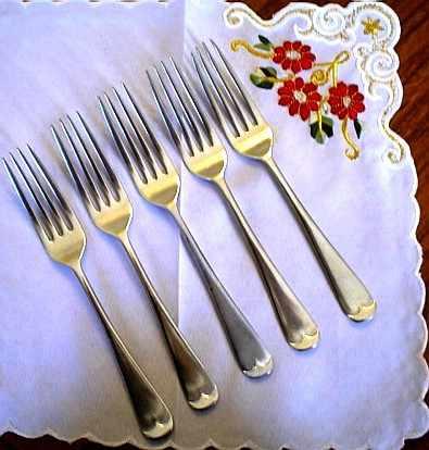 5 tenedores ingleses para reposición