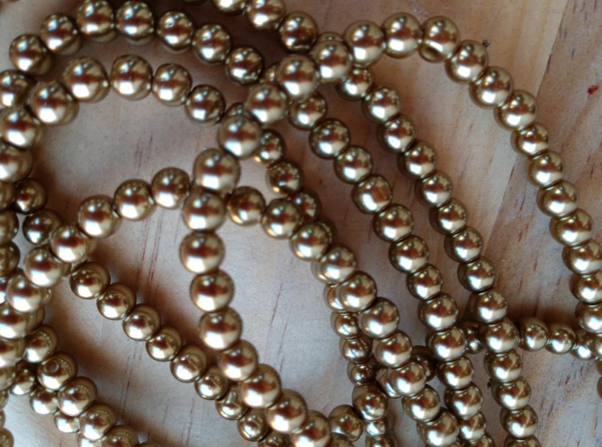 2429a84265d6 5 Tiras Perla Bronce Bisutería Pulseras,collares,accesorios