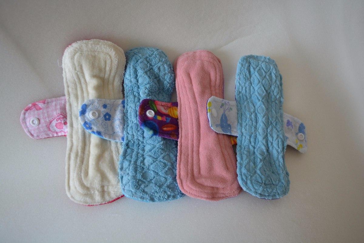5 toallas femenina de pull y algod n y 5 pantiprotectores en mercado libre - Toallas de algodon ...