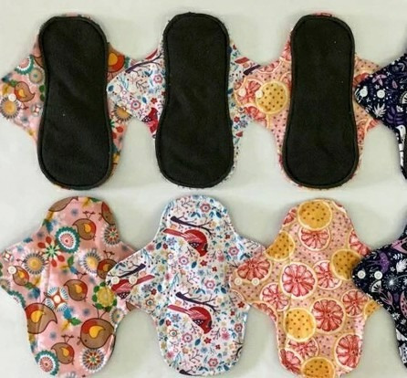 5 toallas femeninas ecologicos medias de bambu piel sensible