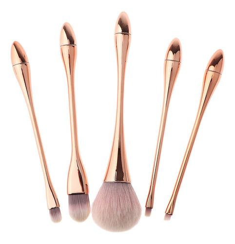 5 unidades brachas de maquillaje facial de fibra suave,