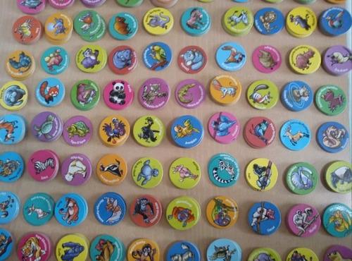 5 unidades tazos zaps ping pong coleção animais em extinção