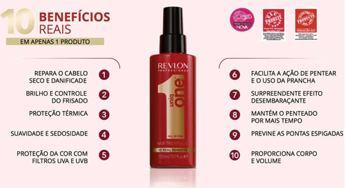 5 unidades uniq one revlon hair treatment 10 em 1 - 150ml
