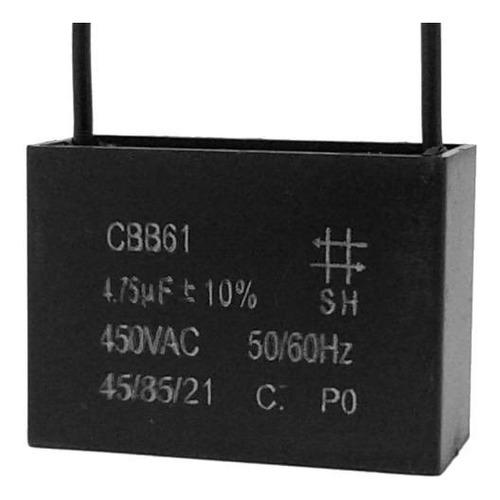 5 unids capacitor paritda 4,75uf x 450vac fio cbb61 40/85/21
