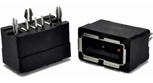 5 unids conector usb a fêmea fixador e terminais curto pci
