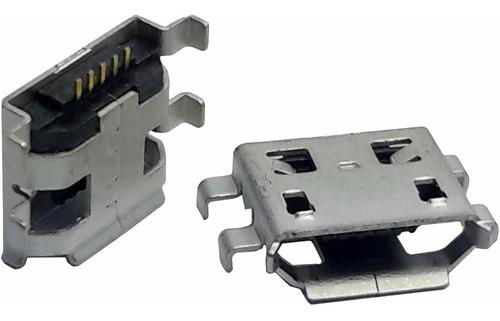 5 unids conector usb mini fêmea v8 micro com asa fixadoras