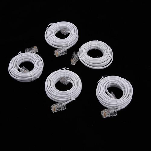 5 unids rj45 a rj11 cable telefónico línea de conexión