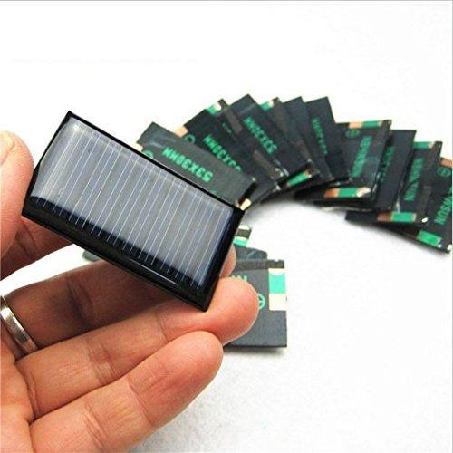 5 v 30 ma 53 x 30 mm micro células solares de potencia mini