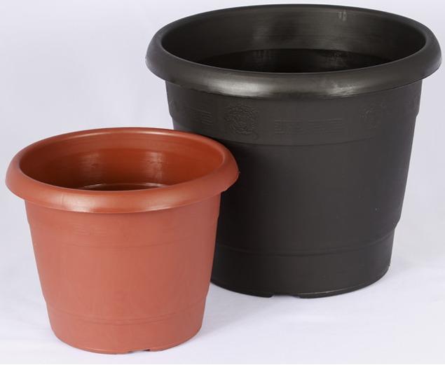 5 vasos grandes 60 litros mudas plantas pl stico r gido - Plantas de plastico ikea ...
