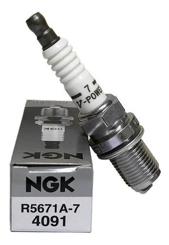 5 velas de ignição marea ngk v-power #5671a/7 turbo grau 7