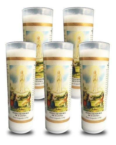 5 velas votivas 7 dias imagem nossa senhora fátima oração