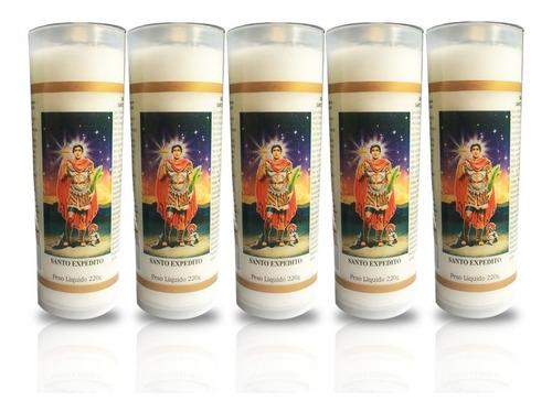 5 velas votivas 7 dias imagem santo expedito