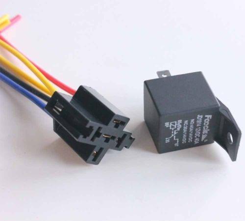 5 x 12 voltios 30/40a spdt relé + cable conector coche