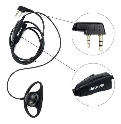 5 x 2pin forma d gancho auricular audífonos para retevis h77
