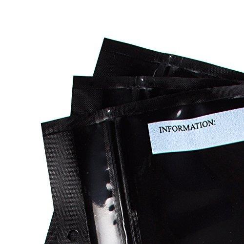 5 x 8 todos negro con cierre sellador al vacío bolsas sns
