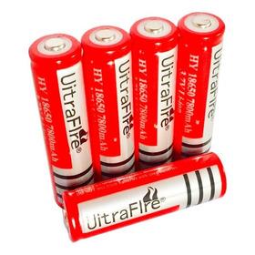 5 X Bateria 18650 Litio 3.7v 6800mha Red, Linternas Li-ion