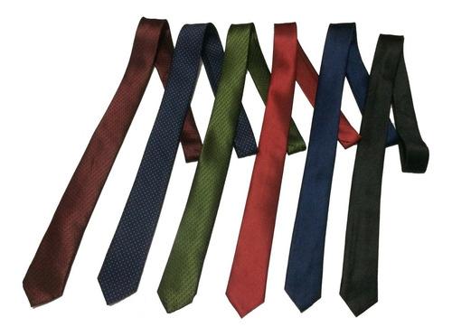 5 x corbatas delgadas juveniles slim varios colores calidad!