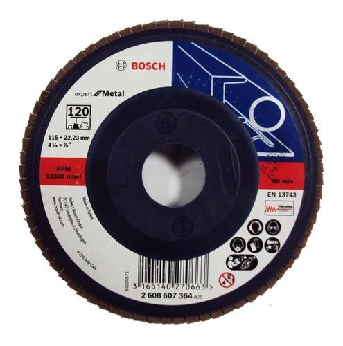 5 x disco de lixa flap 4 1/2 grao 120 bosch frete gratis