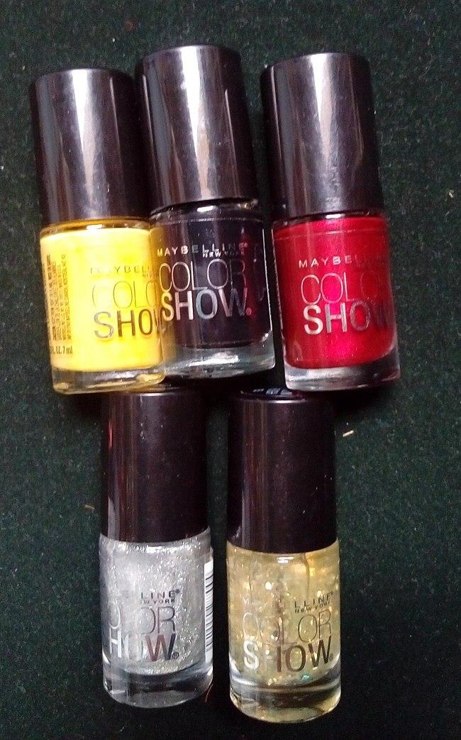 5 X Esmaltes De Uñas Maybelline Color Show - U$S 18,00 en Mercado Libre