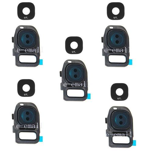 5 x lente de cristal real de cámara oem espalda cubierta par
