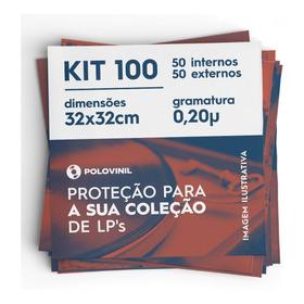 50 +50 Plastico Lp Vinil Externo Grosso 32 X0.20 + Interno