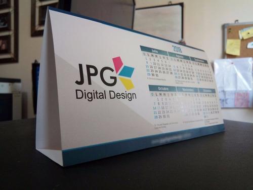50 almanaques calendarios carpa de mesa 2019 + diseño gratis