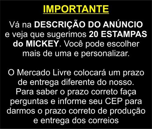 50 almofadas pescoço lembrancinha lembrança mickey atacado