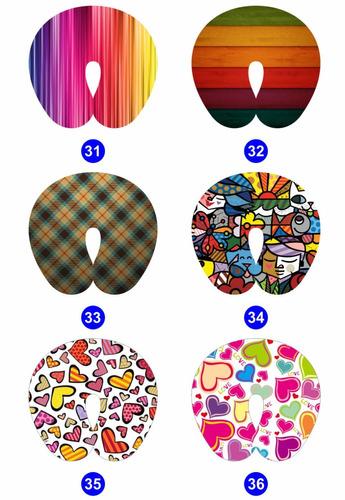 50 almofadas pescoço personalizadas vários temas - atacado