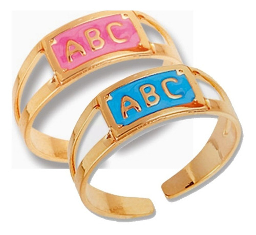 50 aneis formatura abc rosa e azul