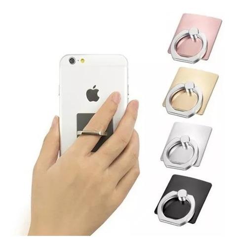 50 anillo soporte sujetador celular colores metalicos base