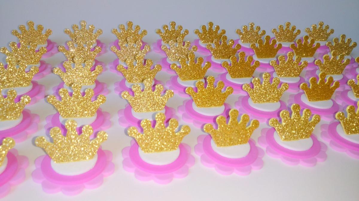 50 Apliques Coroa Princesa Latinha Mint To Be - R$ 29,70 em ...