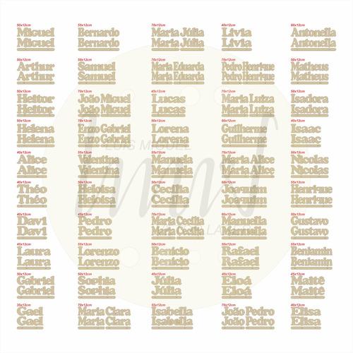 50 arquivos de nomes p/ corte laser