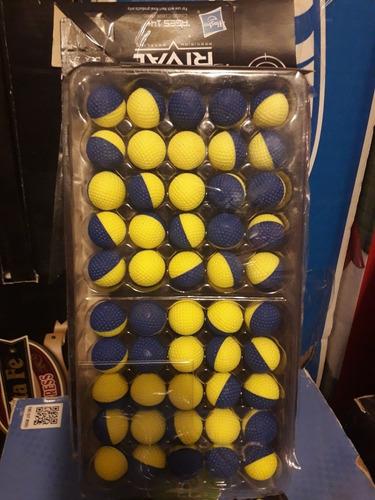 50 balas recarga nerf rival, team azul, hasbro