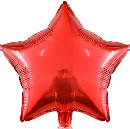 50 balão estrela metalizado 21cm centro mesa decoração festa