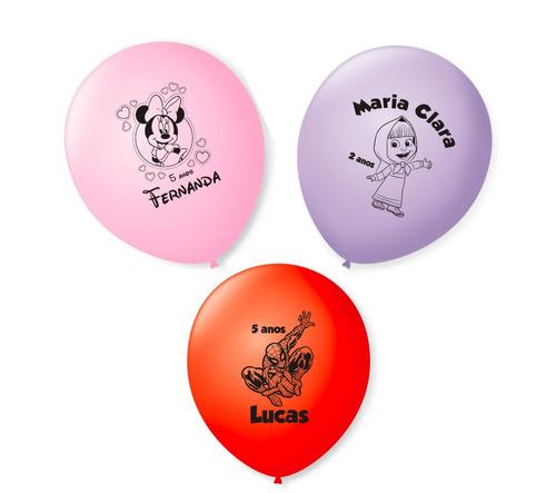 50 balões enfeite mesa minecraft sininho enrolados joaninha