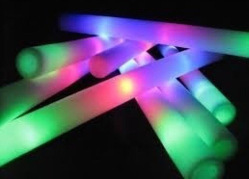 50 barras goma espuma led rompecocos luminosos multicolor